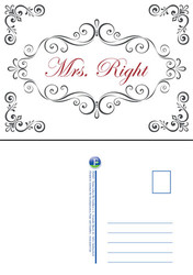 "Postkarte ""Mrs. Right"""