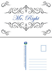 "Postkarte ""Mr. Right"""